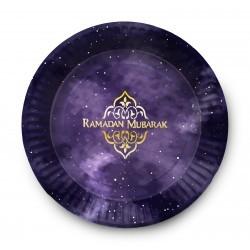 Plates Ramadan Mubarak Eucalyptus (6pk)