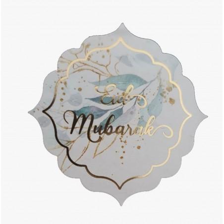 Eid Stickers 12 pieces gold Quatrefoil
