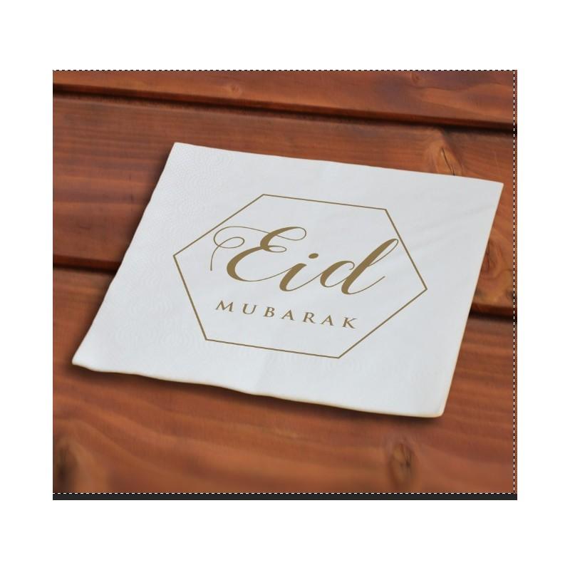 Eid napkins gold (40 pieces)
