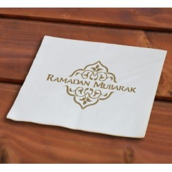 Ramadan napkins gold (40 pcs)