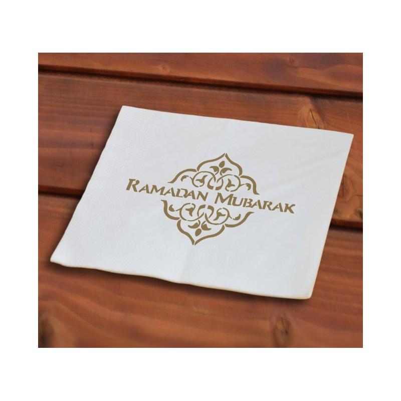 Ramadan Servietten Gold (40 Stück)