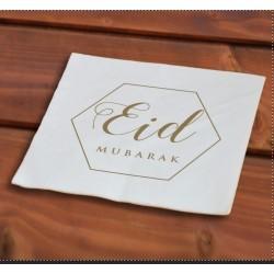 Papieren servetten Eid goud...