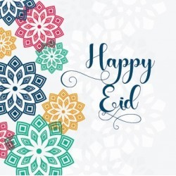 Greeting card Happy Eid