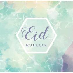 Greeting card Eid - watercolor