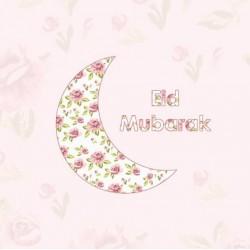 Grußkarte Eid Vintage Moon
