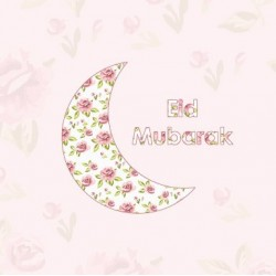 Wenskaart Eid Vintage Moon