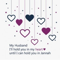 Greeting Card Husband Purple