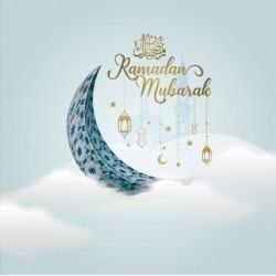 Carte de voeux Nuages Ramadan