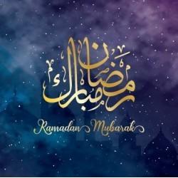 Grußkarte Ramadan Lila / Gold