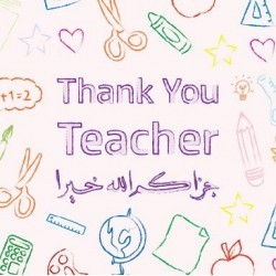 Wenskaart Teacher Colors
