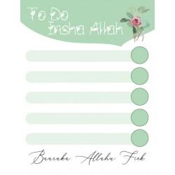 To Do Insha Allah - Groen