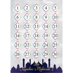 Ramadan Countdown Poster (doppelseitig)