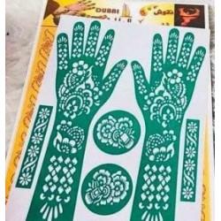 Henna Sjabloon Handen