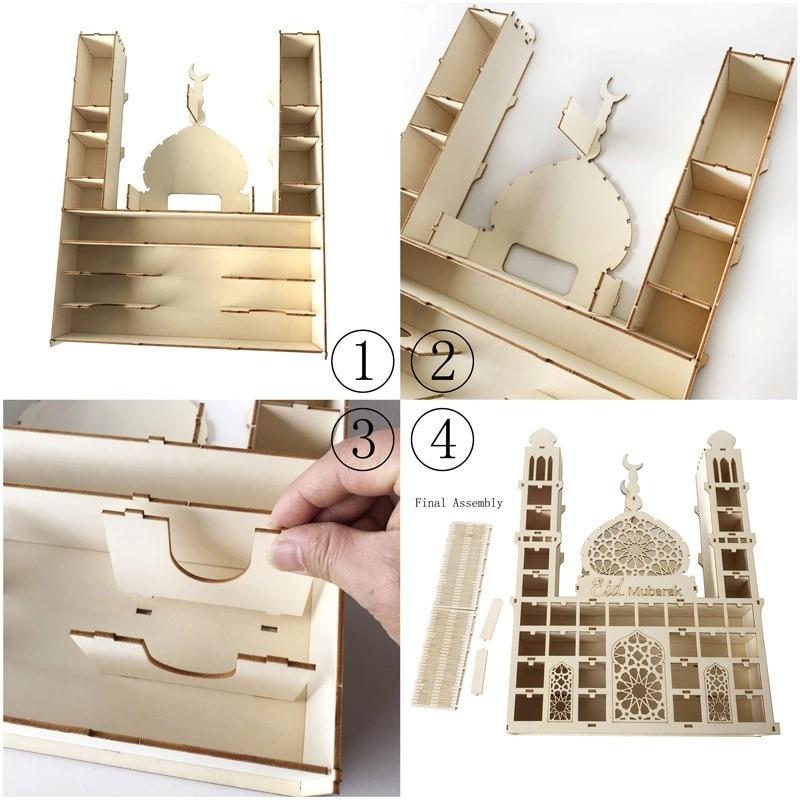 WT-YOGUET Calendrier Ramadan en bois avec stylo 01