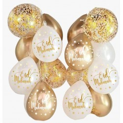Eid Balloon Mix Marble Gold...