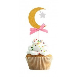 Cupcake Topper Maan - Rose