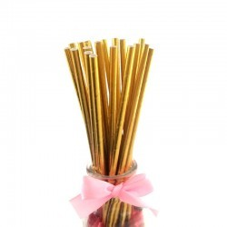 Paper Straw- Gold