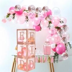 Eid Balloons box Rosé gold