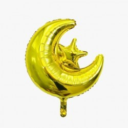 Folieballon Maan-Ster goud...