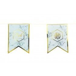 Eid bunting Marble gold