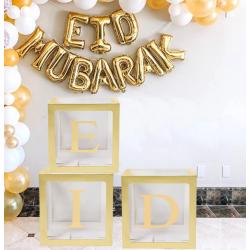 Eid balloon box gold