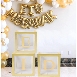 Eid ballonnenbox Goud