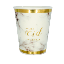 Cups - Eid Marble gold (set...