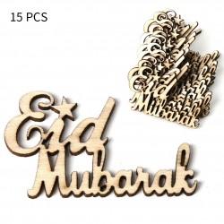 Small Eid Mubarak Wood (15...