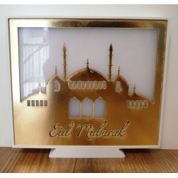 Eid Mubarak Licht Box Goud