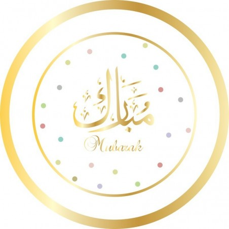 Dessertbordjes Mubarak wit/ goud (set van 6)