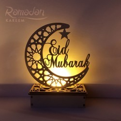 Wooden Standard Eid Mubarak