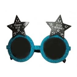 Eid Mubarak Feestbril Blauw