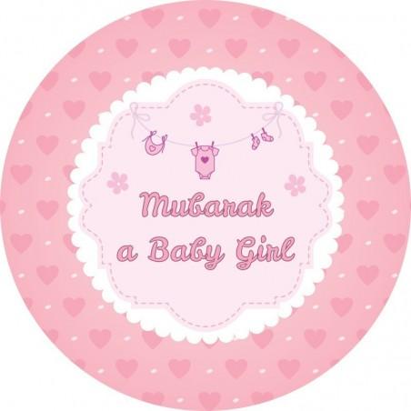 Dessert plates Mubarak a girl (6pk)