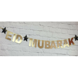 Eid Letter bunting gold...
