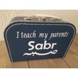 Kinderkoffertje - Blauw Sabr